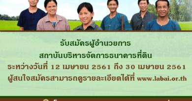 รับสมัครผู้อำนวยการ สถาบันบริหารจัดการธนาคารที่ดิน